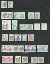 Berlín ** post frescos castillos y castillos de 1980+1982 MINR. 614-615, 673-677