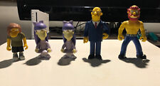 Lot of 5 World of Springfield Simpsons Figures Loose