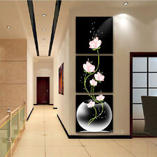 FRAMED Canvas Print Large Wall Art Flowers Home Office Decoration Picture
