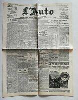 N919 La Une Du Journal L'auto 31 août 1907 la vie automobile