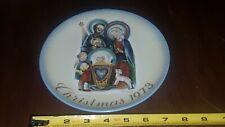 Vintage Hummel 1973 Limited Edition Christmas Plates - Schmid