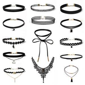 14Pcs Beautiful Choker necklaces charms black leather vintage lace Chocker