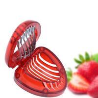 Erdbeerschneider Cutter Edelstahl Klinge Küchenwerkzeug Kuchen garniert