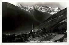 Telfes Stubai Tirol Postkarte ~1950/60 Panorama mit Kirche und Stubai Gletscher