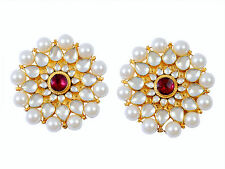 Kundan Tops Earrings Gold plated Kundan Bridal Jewelry Bollywood Designs USA UK