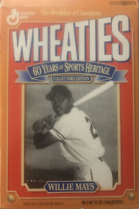 1992 Wheaties Box 60 Years of Sports Heritage Willie Mays (opened/empty)
