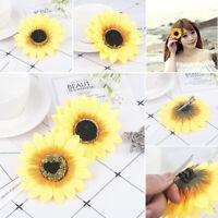 2PCS Sunflower Flower Hair Clip Accessories Barrette Hawaiian Wedding Party Hot-