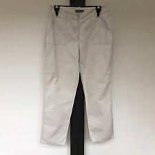 'JACQUI.E' EC SIZE '8' BEIGE 7/8 LENGTH COTTON PANTS WITH LARGE FRONT POCKETS