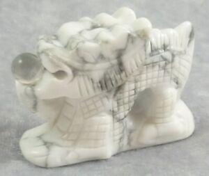 Howlite Carved Dragon