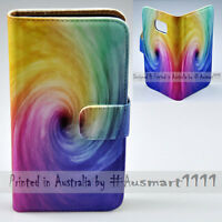 For HTC Series Mobile Phone Colourful Funnel Print Flip Case Wallet Phone Cover