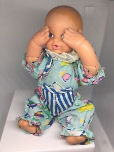 "Vintage 1988 LGTI GALOOB PEEK-A-BOO Baby Doll 6 1/4"" Tall with Romper"