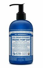 DR BRONNER`S ORGANIC 4-in-1 PEPPERMINT PUMP SOAP 356ml - FAIRTRADE