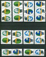 PCR China 12 Zusammendrucke aus Nr.2180 - 2183 T.127 postfrisch MNH Umweltschutz