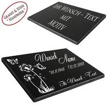 Granit Grabstein mit Motiv-Auswahl Gedenktafel Grabplatte Gedenkplatte 30x20cm