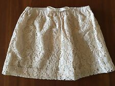 WITCHERY KIDS Girls Vanilla Cream Lace Elastic Waist A-Line Full Skirt Size 5