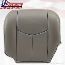03 04 05 06 Cadillac Escalade Driver Bottom Leather Replacement Seat Cover Gray
