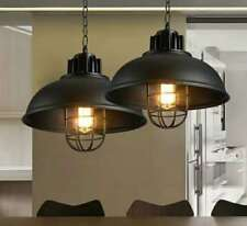 Vintage Rustic Modern Industrial Black Cage Lamp Shade Pendant Ceiling LED Light