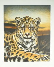 """""""South American Jaguar"""" by Martin Gilbert Katon Signed Trial Proof TP Lithograph"""