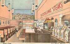 Las Vegas,Nevada,Sam's Cafe,Slot Machines,Gambling,Lunch Counter,Linen,c.1950s