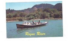 OR Rogue River Oregon Vintage Post Card Skookum House Rogue River Mail Boat