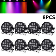 8Pcs 12LED*10W stage Par Light RGBWA UV 6IN1 DMX512 6/10CH Color Mixing Washer