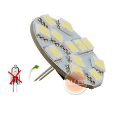 12V LED G4 Cool White Back Pin Down Spot Cabinet Light RV Marine Lamp Bulb