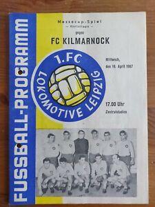 19.04.1967 Lok Leipzig-FC Kilmarnock Programmheft Messe Cup