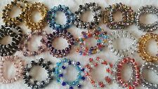 Joblot 40 pcs Glass Crystal Mixed Colour diamante Bracelets - New Wholesale