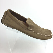 Clarks Driving Moccasins Loafers 9.5 M Brown Suede Leather 79299