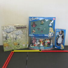 Alice in Wonderland Lot, Figurine Playsets, Doll, & Jigsaw Puzzle Most Items New