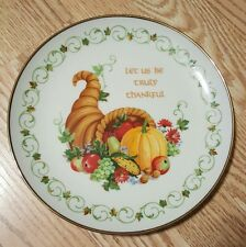 """Collector Plate """"Horn of Plenty""""  #10B Russell D Bushee 1988-The Creative Circle"""