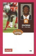 JALYN HOLMES 2018 REESE'S SENIOR BOWL RC OSU OHIO STATE BUCKEYES ROOKIE CARD