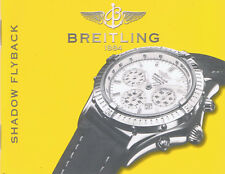 BREITLING SHADOW FLYBACK ANLEITUNG INSTRUCTIONS