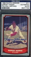 Harvey Haddix Signed Psa/dna 1988 Pacific Autograph Authentic