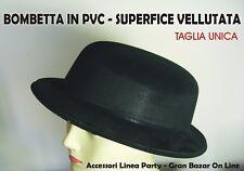 BOMBETTA NERA PVC Effetto Velluto CARNEVALE PARTY FESTA