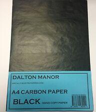 100 SHEET PACK A4 CARBON PAPER  HAND COPY  - BLACK
