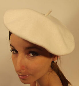 New Beret White Ladies Best Quality French Fashion Genuine 100% Wool S M L