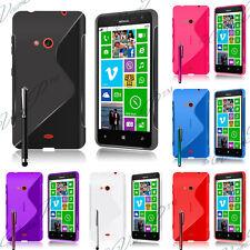 Housse Coque Case Noir TPU Silicone GEL Soupe Motif S Vague Nokia Lumia 625