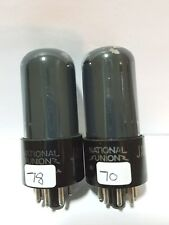 2 National Union Jan  6V6 GT  Vacuum Tubes  Tested New on Calibrated TV - 7