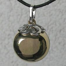 Damen Kette Halskette Kautschuk Ø 3 mm 3reihig Metall Anhänger mit silber-mint