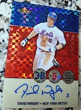 DAVID WRIGHT 2005 Topps Finest XFractor Auto SP Card 09/25 Mets 242 HRs 196 SBs