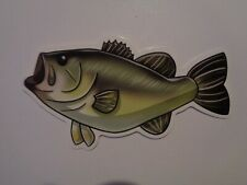 "Fishing Box,Phone,Laptop or Car Vinyl Sticker "" Green Bass """