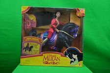 1997 Disney Mattel Girls Real Riding Mulan/Khan Playset New NIB Age 3+