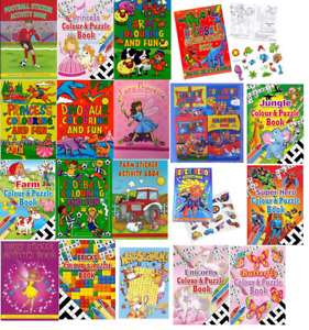 A6 Colouring And Fun Children's Activity Book Kids Art Crafts Pages With Puzzles