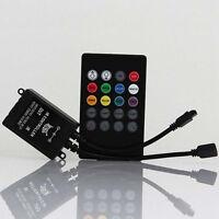 Hot Musik Sound aktiviert RGB LED Controller Lichtleiste 20 Taste Fernbedienung
