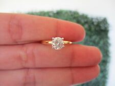 .90 Carat Diamond Engagement Ring 18K Yellow Gold & Platinum  ER394 sep