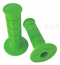 AME old school BMX FULL WAFFLE XL (126mm) bicycle grips LIME GREEN *MADE IN USA*