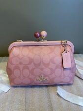 Signature Coach Nora Kisslock Crossbody Bag C1452 Candy Pink