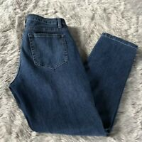 Soft Surroundings Medium Wash Distressed Mid Rise Straight Leg Jeans Women's 4