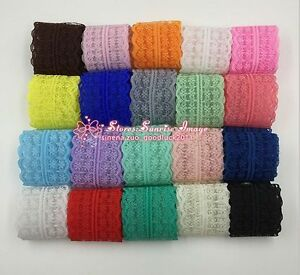 12 Yards Bilateral Handicrafts Embroidered Net Lace Trim Ribbon Wholesale HB01